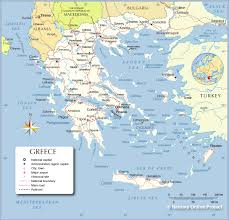 Where Is Greece On The World Map political map of greece nations online project