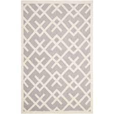 Grey Dhurrie Rug Safavieh Hand Woven Moroccan Reversible Dhurrie Grey Ivory Wool