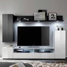 Schrankwand Wohnzimmer Modern Ideen Ehrfürchtiges Wohnzimmer Weiss Schwarz Wohnzimmer Modern