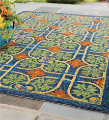 Teal Outdoor Rug Talavera Tile Indoor Outdoor Rug 8 U0027 X 10 U0027 Indoor Outdoor Rugs