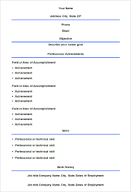resume templates free printable free printable fill in the blank resume templates paso evolist co
