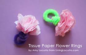 Easy Paper Craft Ideas For Kids - easy tissue paper flower rings kids craft