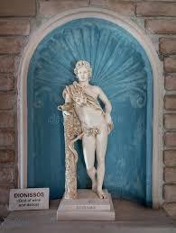 dionysus greek god statue dionysus statue god of harvest and wine in greek stock image image