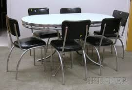 Search All Lots Skinner Auctioneers - Chrome kitchen table