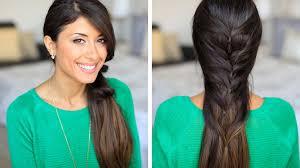 faux fishtail hair tutorial youtube