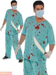 Doctor Halloween Costume Adults Bloody Scrubs Halloween Costume Mens Ladies Doctor Surgeon