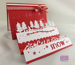 christmas card made using the die u0027sire christmas edgeable dies