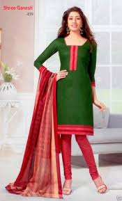 bazarvilla stylish red colour printed salwar suit dress material