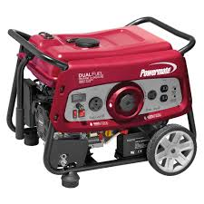 powermate 6 000 watt gasoline powered manual start portable