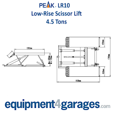 scissor lift mobile peak lr10 4 5 ton