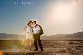 photographers in las vegas lake bed photo shoot of lesia and las vegas wedding