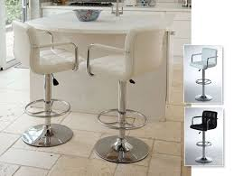 White Leather Bar Stool Breakfast Bar Stools U2013 A Great Addition To Your Kitchen