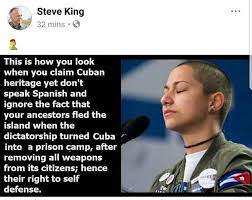 King Meme - steve king attacks emma gonzález with offensive meme crooks and liars