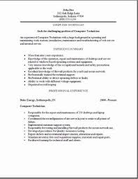 technical resume format samples fresh design computer technician