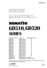 komatsu motor grader gd511 1 gd513 1 gd515 1 gd521 1 gd522 1