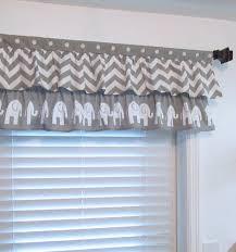 Chevron Nursery Curtains Nursery Valance Two Tiered Curtain Nautical Navy Blue White