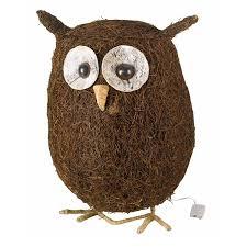 ozzie owl rattan garden ornament at homebase co uk