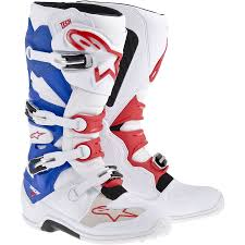 dirt bike racing boots 2014 new tech 7 motocross boots white red blue 2014