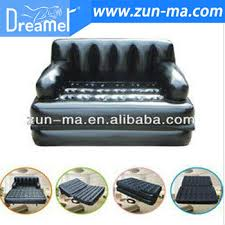 folding plastic inflatable 5 in 1 air sofas bed high quality air