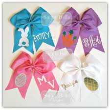 personalized bows personalized easter cheer bows