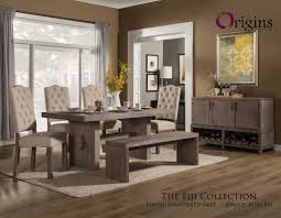 grey dining table set fiji weathered gray dining table set from origins by alpine furniture