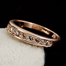 swarovski rings gold images Swarovski crystal inlaid rings wholesale 18k gold wedding ring jpg