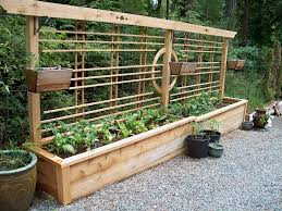 fancy garden planter with trellis pinspiration mommy