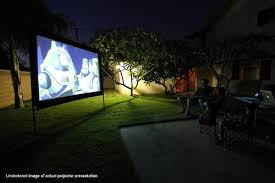 large outdoor projector screens front or rear projection pictures