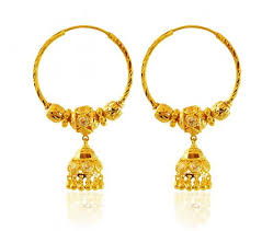 gold hoop earings 22k gold hoop earrings ajer59926 22k gold designer hoop