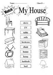 here is a simple worksheet for students to name what items are in