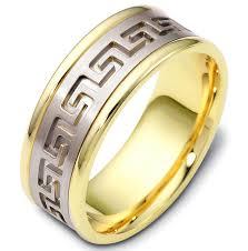 carved wedding bands 47528e key carved wedding ring