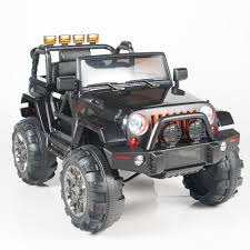 jeep truck black jeep wrangler style ride on truck with 2 4g remote control u2013 car