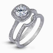 halo engagement ring settings 18k white gold halo engagement ring set delicate