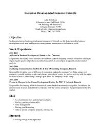 business administration sample resume 19 example 2017
