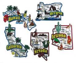 map of oregon nevada arizona california hawaii nevada oregon usa map state magnets