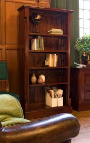 Mahogany Bookcases Uk Chateau Solid Mahogany Furniture Large Living Room Office Bookcase