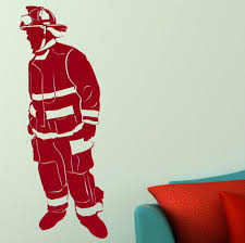 the best firefighter apparel and firefighter t shirts removable firefighter wall decal