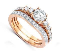 home design story diamonds graceful diamond bridal set 2 carat round cut diamond on 18k gold