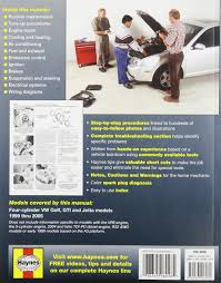 haynes repair manual for vw golf jetta number 96018 0038345960185
