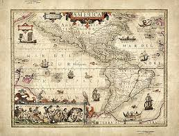 the americas map map of the americas 1606