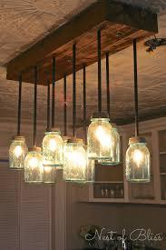 diy kitchen lighting ideas decorating with jars jar chandelier jar chandelier