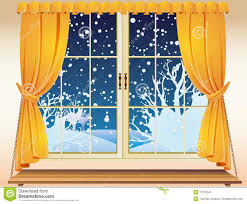 winter view through a window stock image image 12132641