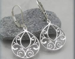 filigree earrings filigree earrings etsy