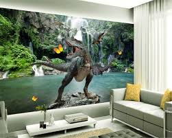 beibehang 3d wallpaper home decorated hd lake view dinosaur living