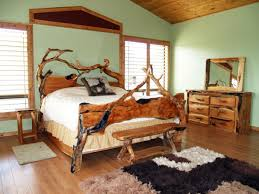rustic bedroom decorating ideas breathtaking double bed closed old chair on sleek wood floor under