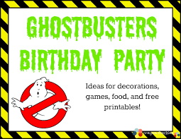great ideas on ghostbuster activities and free printables that