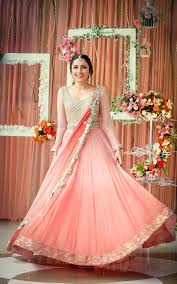 engagement lengha trendy embellished dress with stitching for engagement