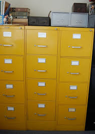 Yellow Metal Filing Cabinet Yellow Metal Filing Cabinet With Best 20 Vintage File