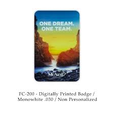 fc 200 non personalized color digital cards badge print company
