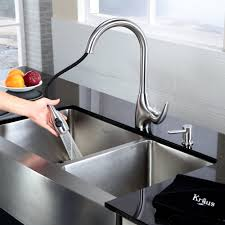 kraus kpf2170sd20 single lever pull out kitchen faucet with hi arc